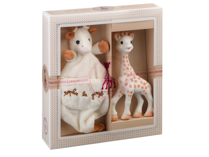 Coffret SophieSticated Medium N°1 Sophie la girafe et Doudou avec attache sucette